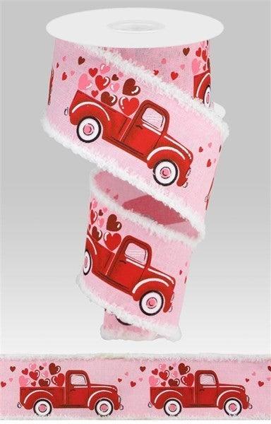 """2.5""""X10yd Truck/Heart/Drift Light Pink"""