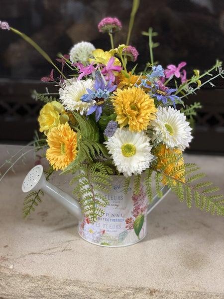 Watering Can Floral Arrangement