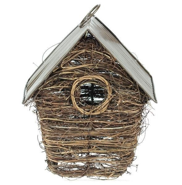 "8""H Birdhouse W/Roof"