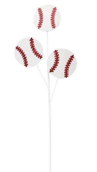 """24""""L Glitter Baseball Pick X3"""