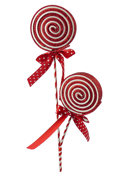 Glitter Lollipop Spray Red/White/