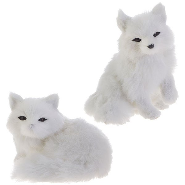 "5\"" FOX ORNAMENT White"