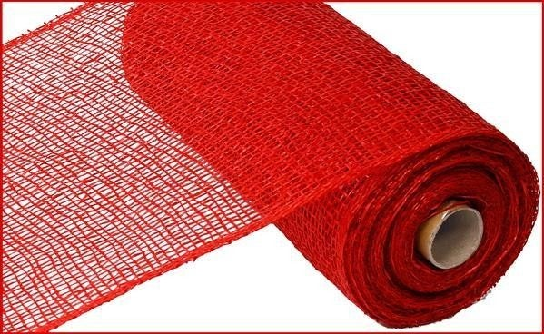 "10"" X 10Yd Poly Burlap Mesh Red"