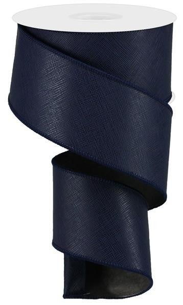 """2.5""""X10yd Textured Faux Leather Navy Blue"""