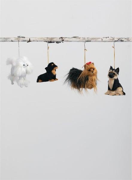 DOG ORNAMENTS 4/Asst