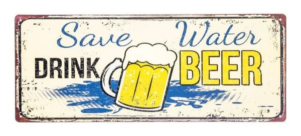 Saver Water Beer Sign