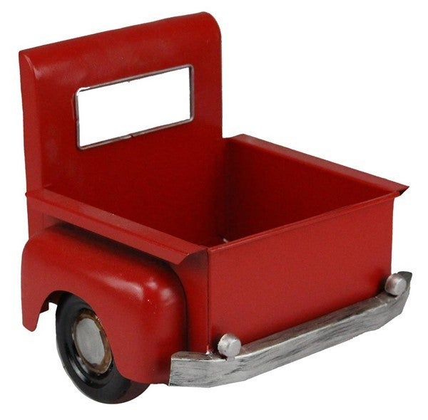 "7.25""L X 6.75""H Truck Bed Planter Red"
