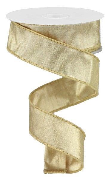 "1.5""X10yd Metallic Dupioni W/Gold Gold"