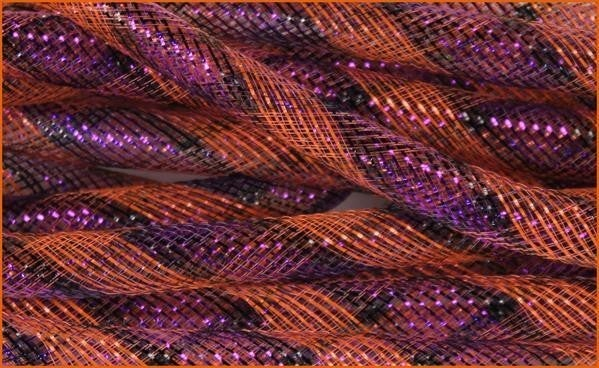 16Mmx10yd Deco Flex Tubing Purple/Orange/Black