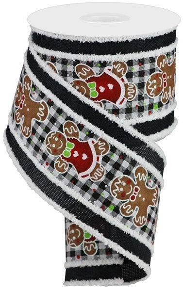 "4""X10yd 2 In 1 Gingerbread/Gingham/Drift BlK/WH"