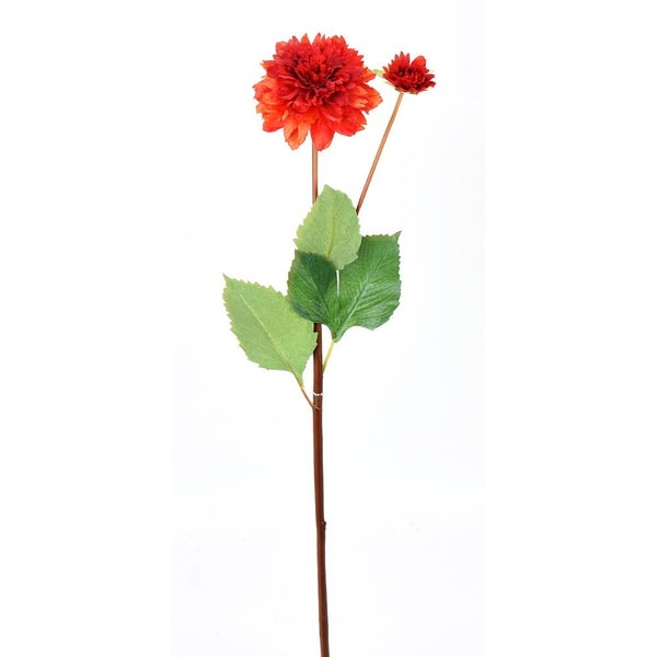 "29"" DAHLIA W/BUD STEM Red"