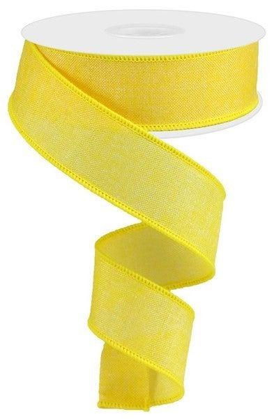 "1.5""X10yd Shiny Royal Burlap Color: Yellow"