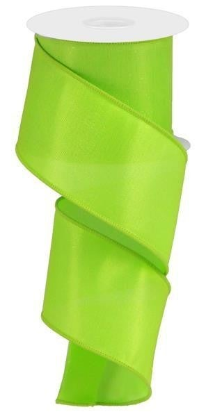 "2.5""X10yd Diamond Satin Lime Green"
