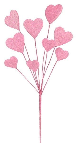 "19.5""L GLITTER/EVA HEART PICK Pink"
