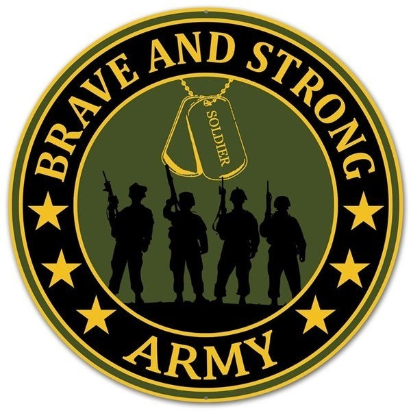 """12""""Dia Brave And Strong Army"""