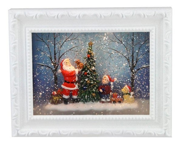 """9.5""""L Santa Picture Frame Snow Globe"""