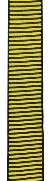 "1.5""X10yd Horizontal Thin Stripes On Pg Yellow/Black"