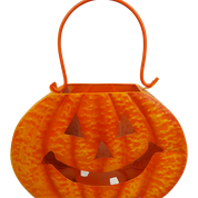 Metal Jack O Lantern D4xW10xH6.5  Orange