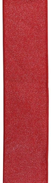 "2.5""X10yd Glitter On Royal Burlap Red"