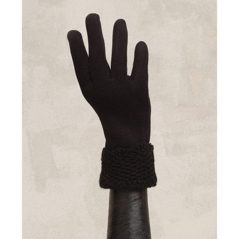 Black Knit Cuff Glove