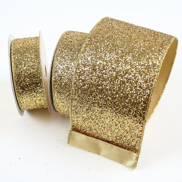 "GLITTER MAGIC - 1.5"" X 10YD / LT GOLD"