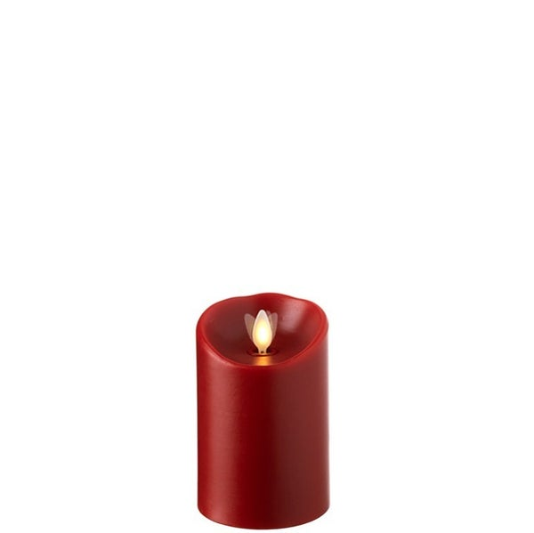 "3""X4"" Moving Flame Red Pillar Candle"