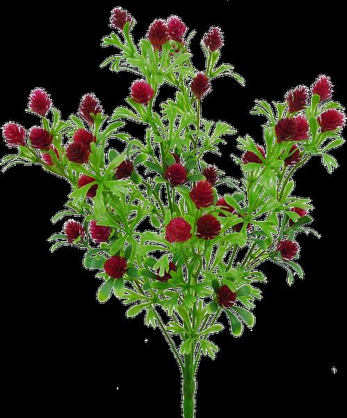 "Plastic Berry bush x 5, 15""H"