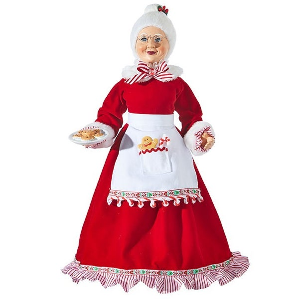 """Peppermint Parlor 18"""" KRINGLE CANDY CO MRS. CLAUS"""