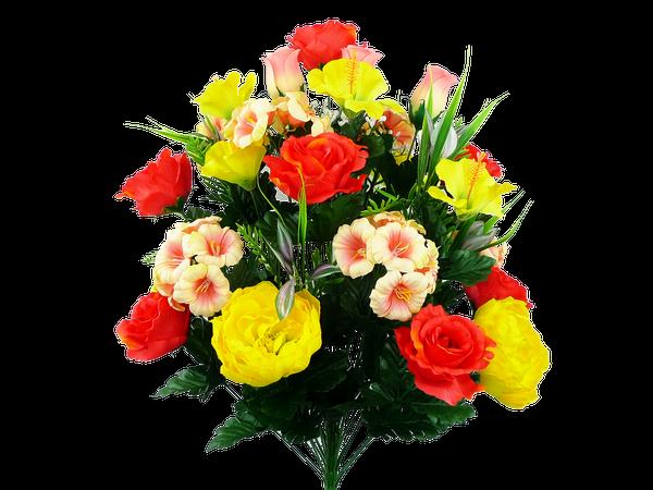 Peony Rose Bud Petunia Hibiscus Bush X 30 H27 COYW