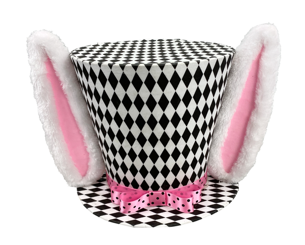 Harlequin Ears Top Hat W13.5Xh8
