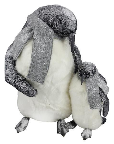 "15.5""H X 13""L Penguin Mother And Child"