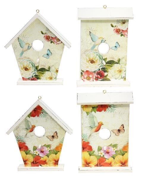 "7.5-8""H Spring Flower Birdhouse"