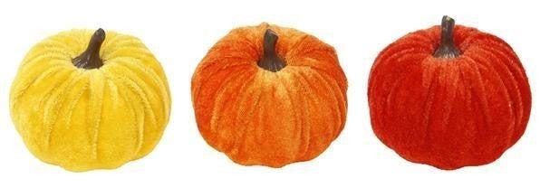 """3.25""""Dia Velvet Pumpkin"""
