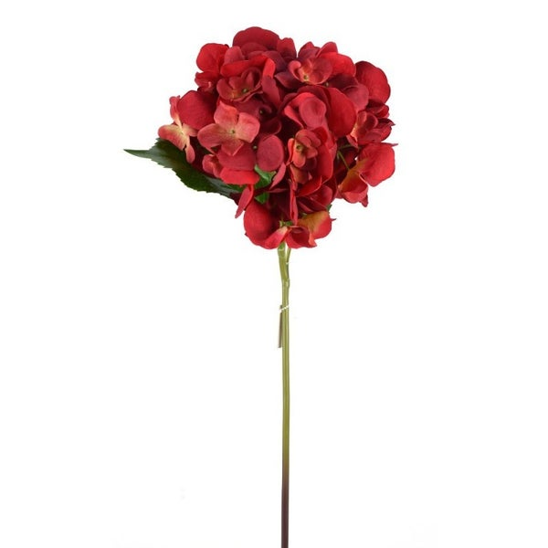 "22"" FRESH TOUCH HYDRANGEA STEM Red"