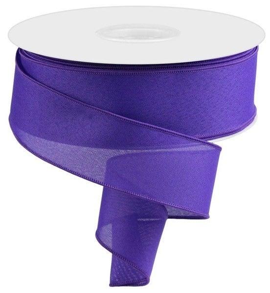 """2.5""""X50yd Value Faux Burlap  Purple"""