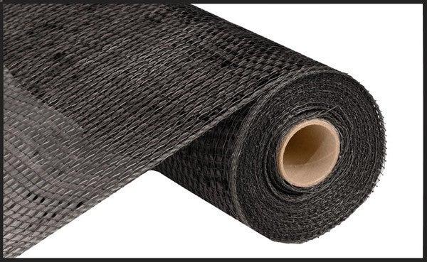 "10""X10yd Deluxe Wide Foil Mesh Black w Black Foil"