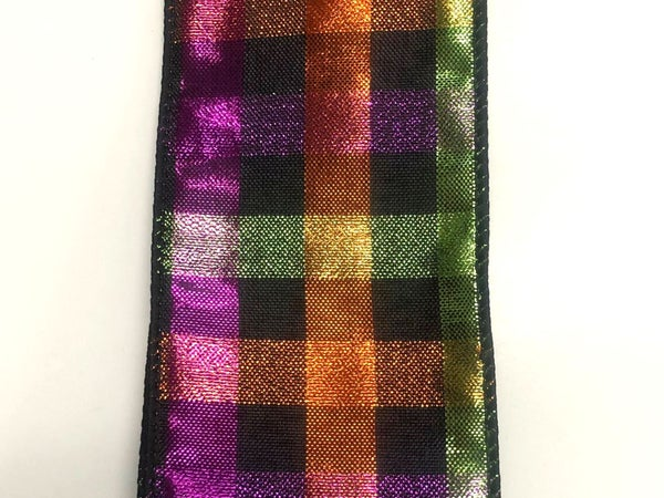 """HALLOWEEN WOVEN SQUARE CHEX 2.5""""X10YD"""