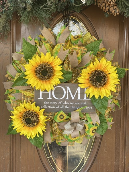 Zack's Sunflower Wreath