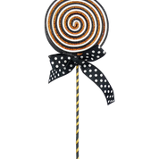 Glitter Lollipop Bow Spray W5xH22  Black/White