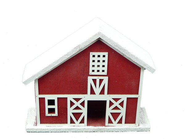10in wooden house 1 LED light