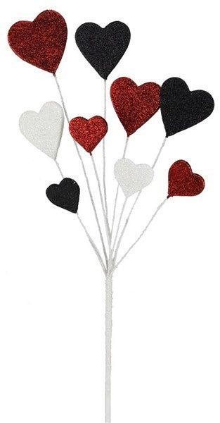 """19.5""""L Glitter/Eva Heart Pick"""