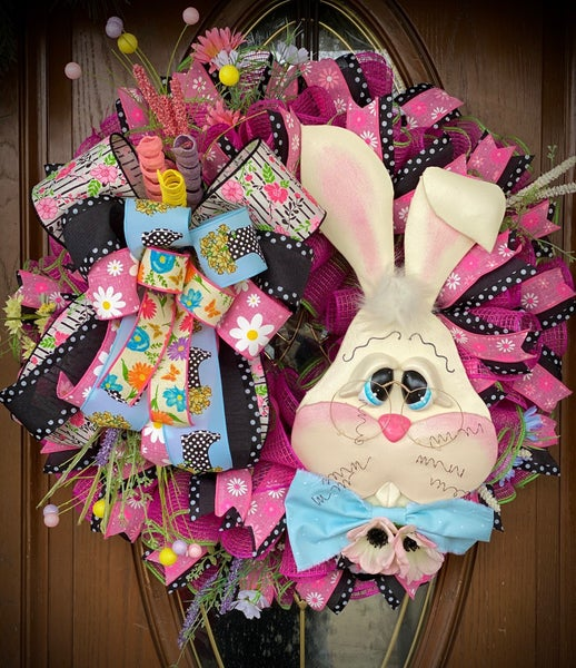 Knock Your Socks Off Bunny Wreath