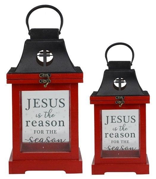 """S/2 13""""-17""""H Jesus Is Reason Lanterns"""