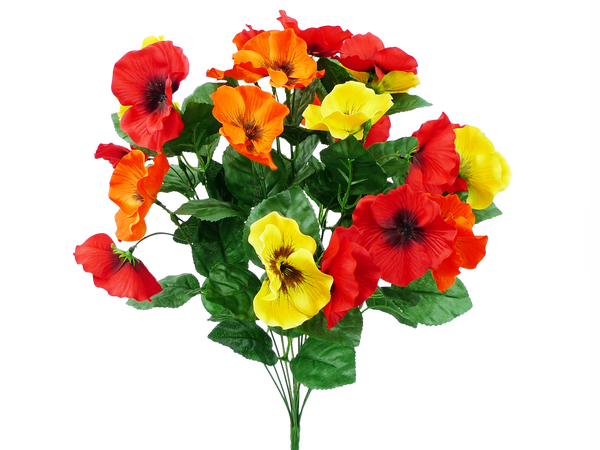 Satin Pansy Bush X 12 H19 Red