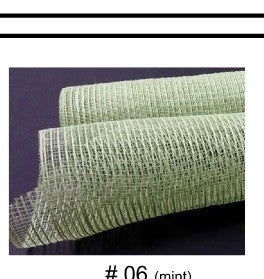"ALL MINT BURLAP MESH, 10""X10Y"