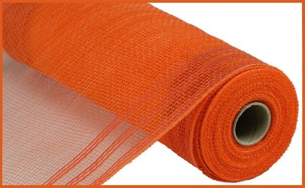 "10.5""X10yd Faux Jute/Pp/Border Stripe Orange"