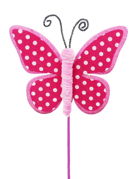 Butterfly Polkadot Pick H17 Pink