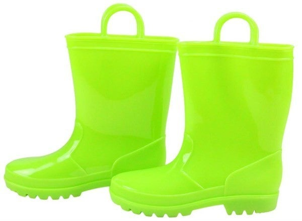 Pvc Rain Boots W/Loops - Lime
