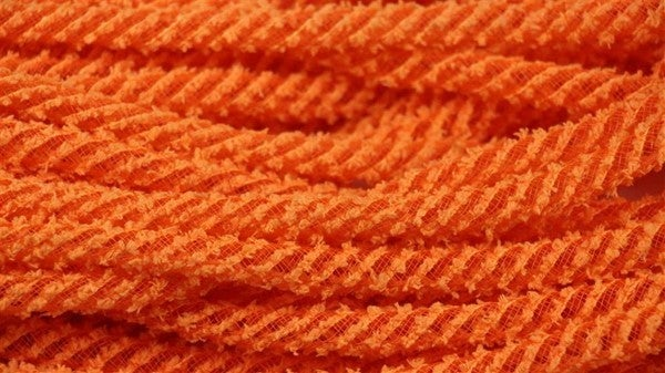 8Mm X 20Yd Snowdrift Deco Flex Tubing Orange
