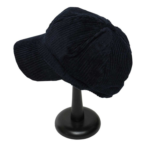 Navy Corduroy Slouch Hat